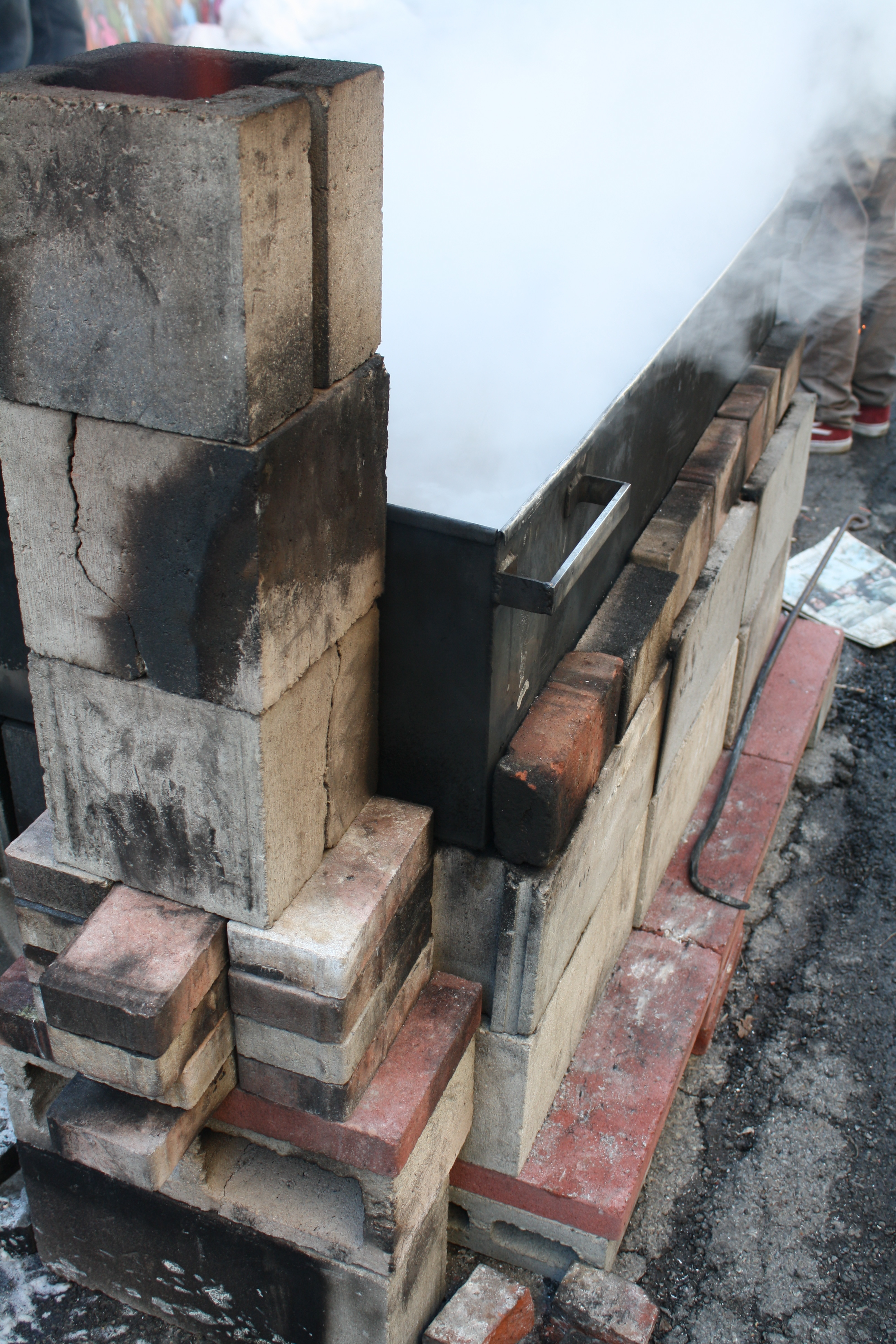 how to a temporary fireplace for making maple syrup u2013 from
