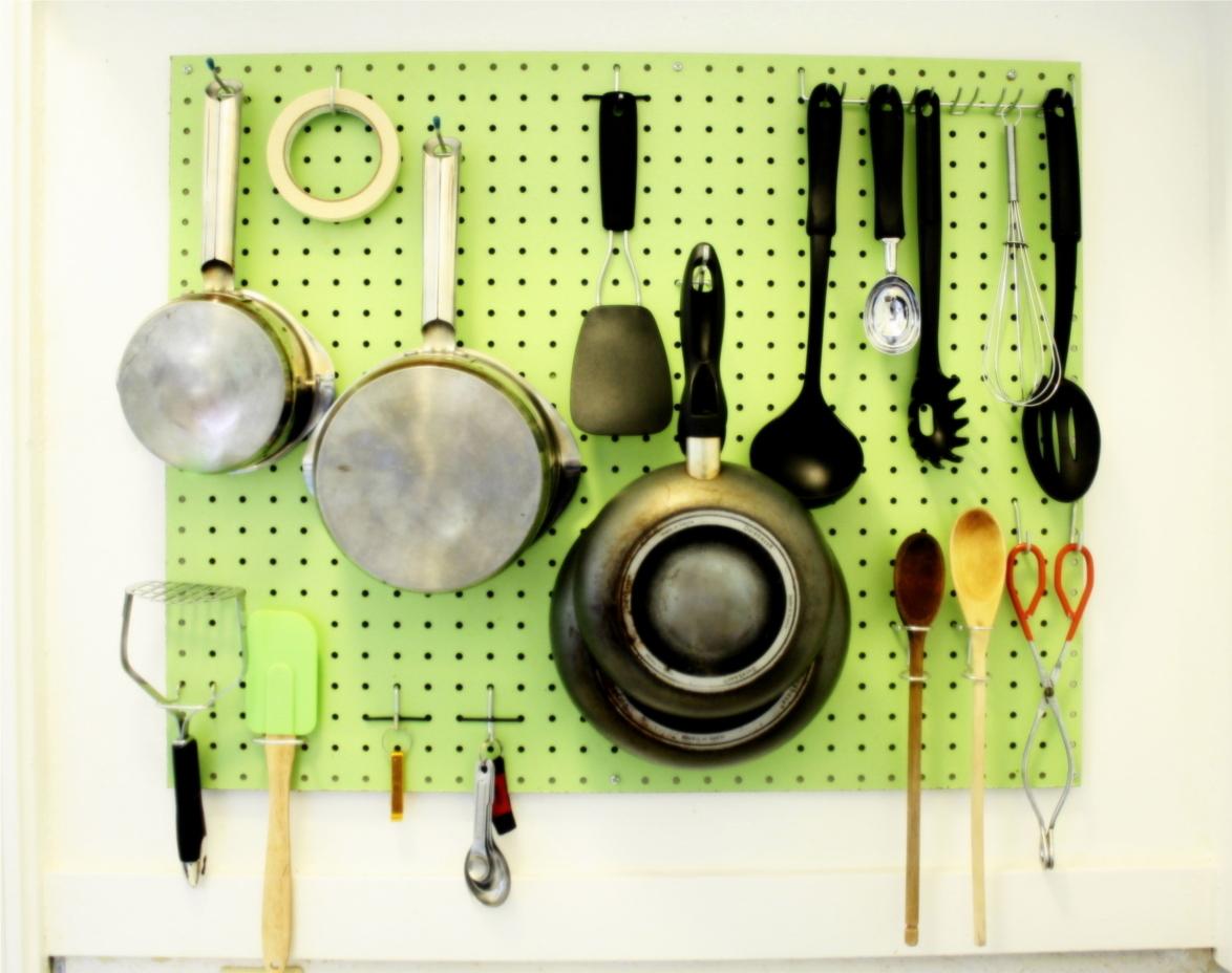 Small Kitchen Pegboard