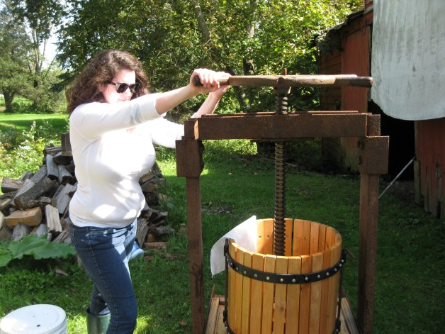 Here I am! Pressing cider