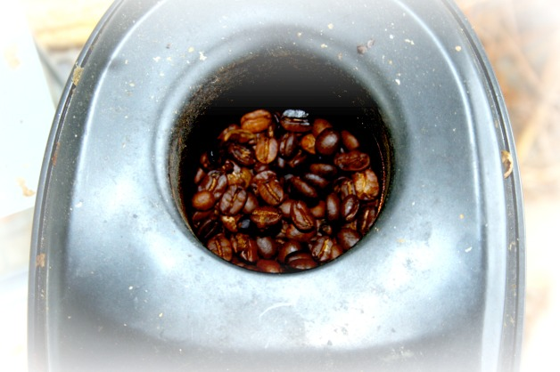 coffee roasting in popper