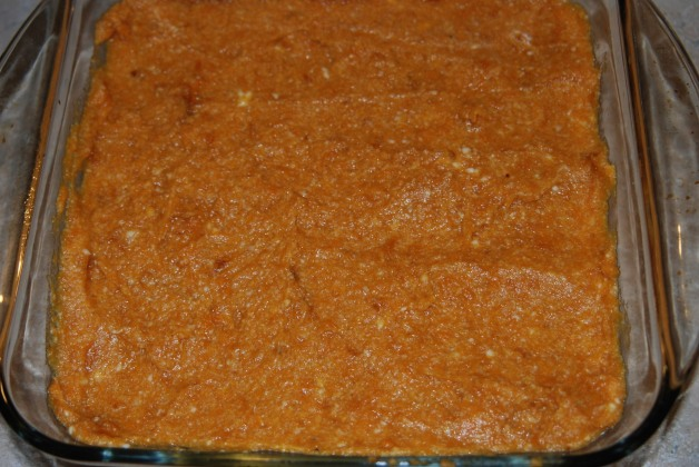 The filling ready to be topped!