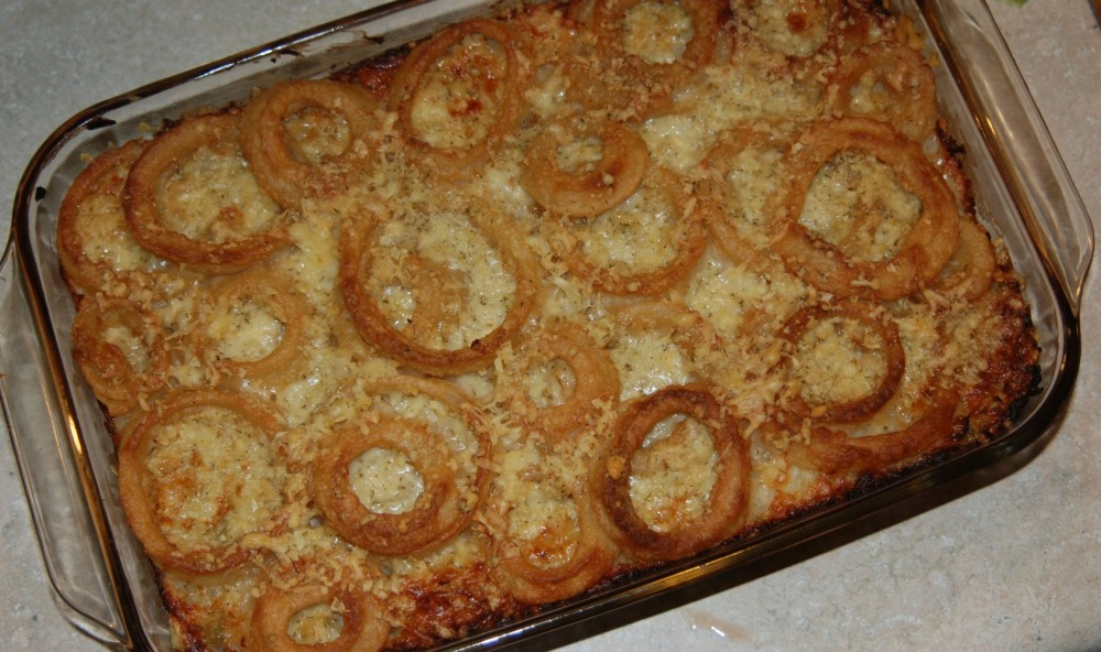 The finished casserole remake.