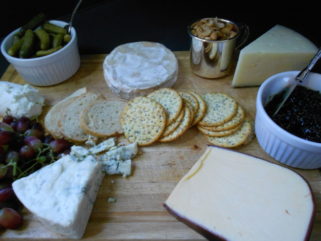 A cutting board, some cheese, and a few nibbles. Now it's a party.