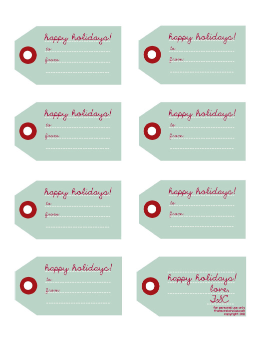 FSC Gift Labels