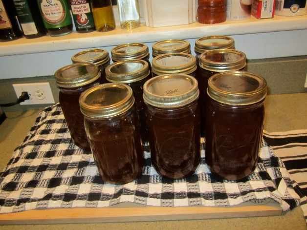 10 1/2 quarts of syrup, final count for the day's boil