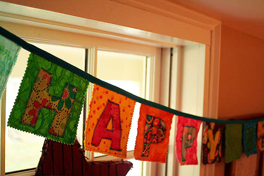 Handmade Happy Birthday Banner