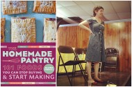 Alana Chernila, author of The Homemade Pantry, giving an author's talk at the April 2012 Troy Food Swap.