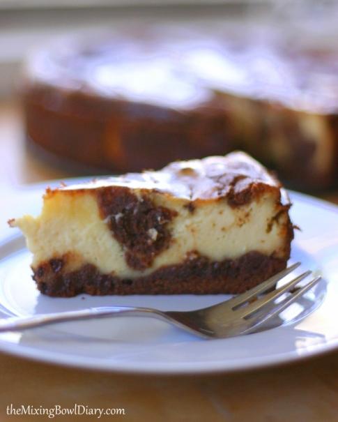 Dairy & Gluten Free} Brownie Swirl Cheesecake   FROM SCRATCH CLUB