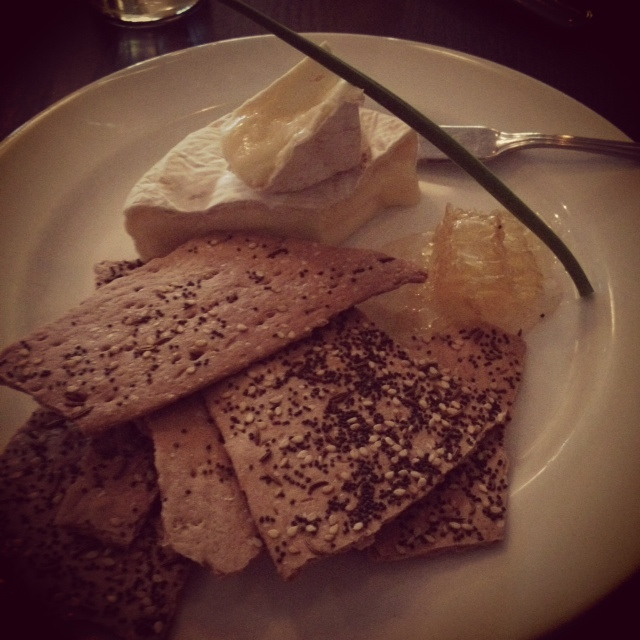 If you are ever near Amherst do yourself a favor and eat at Tabella. It's an incredible farm-to-table restuarant we ate at. This is Vermont rye crackers with local camembert cheese and honeycomb. YUM!!