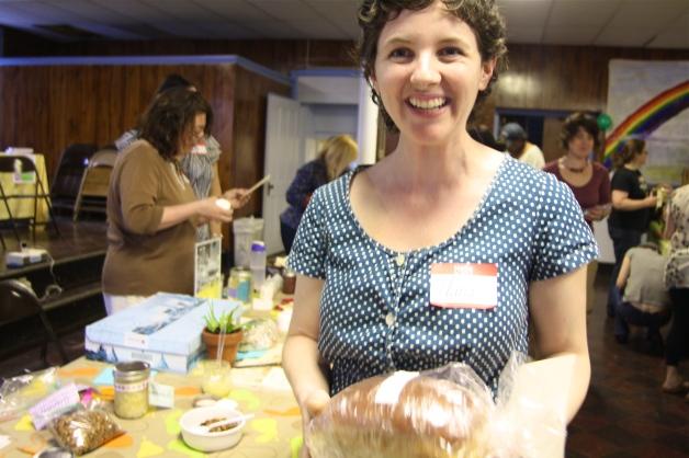 Swapper Alana at April's Troy Food Swap