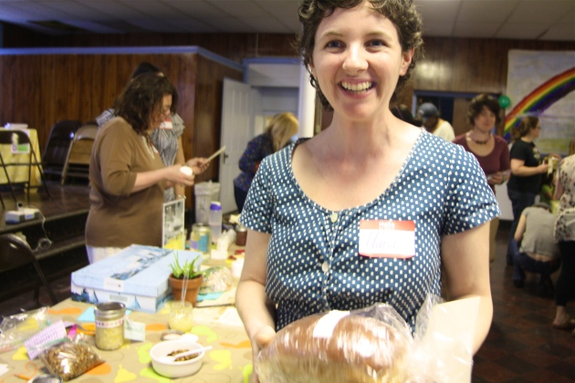 Swapper Alana at April's Troy Food Swap