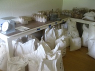 Another side of the bagging room.