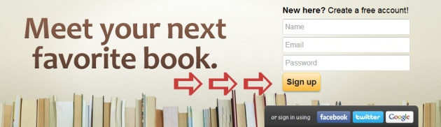 goodreads signup