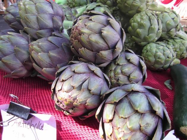 farmers market artichokes