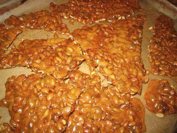 Nut brittle smashed.