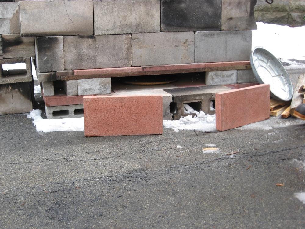 bricks to make an oven door