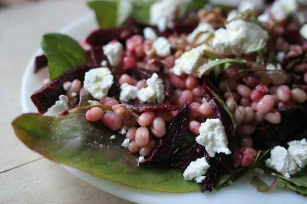 bean beet and sorrel salad1photo by Ellie Markovitch