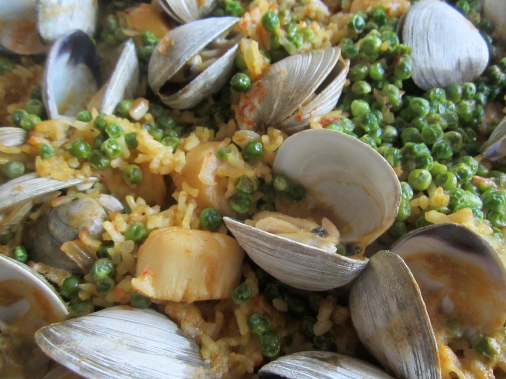 Paella, sans shrimp and chorizo