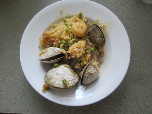 Paella for dinner, lunch, dinner again