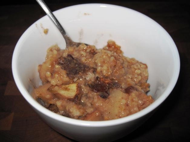 Apple Oatmeal Served