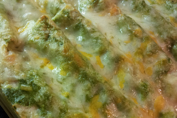 Chicken Spinach Enchilladas