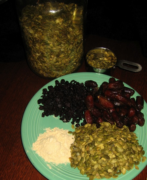 Pumpkin Seed Cherry Date Bar Ingredients