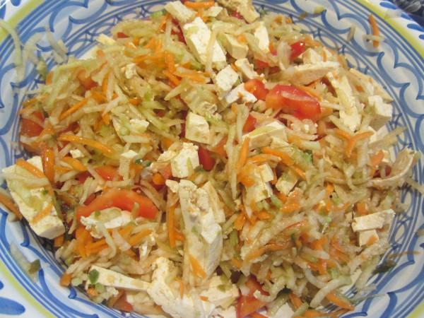 No-cook tofu salad