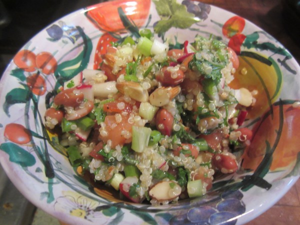 Colorful and lemon-y tabbouleh